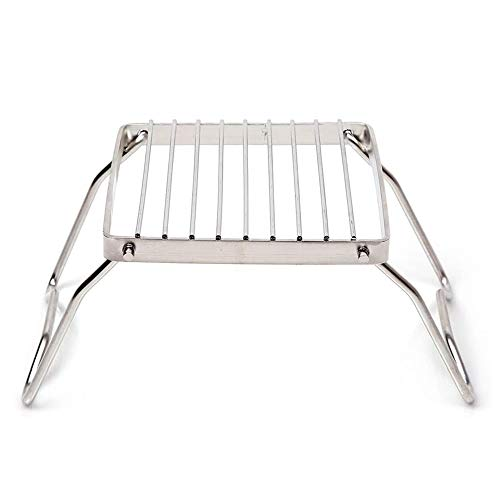 HKKAIS Folding Campfire Grill,Made from 304 Duty Stainless Steel Grate for Outdoor and Camping with Durable Carrying Bag Compact and Portable