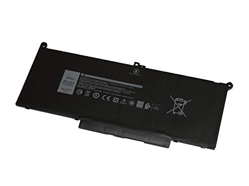 BNS 60Wh Type F3YGT Compatible Battery for Dell Latitude 7280, Latitude 7480-7.6V 60Whr 4 Cell