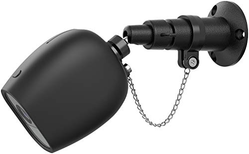 Aobelieve Outdoor Security Wall Mount with Chain Lock and Weather-Resistant Silicone Skin for Arlo Pro and Arlo Pro 2 Cameras, Black