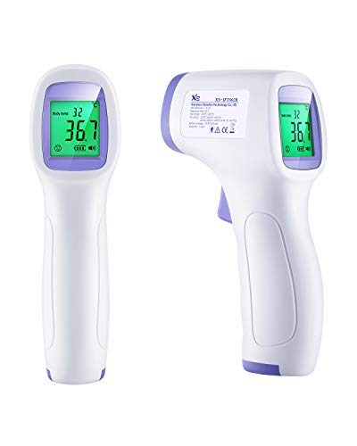 TechVilla Medical Contactless Thermometer, Body Infrared Thermometer for Adults and Kids, with 3 Function - Fever Alarm, Over Range Display and Group Data Memory
