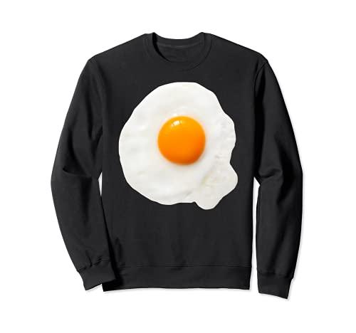 Disfraz de huevo frito para Halloween Yema de desayuno, regalo de comida para hombres y nios Sudadera