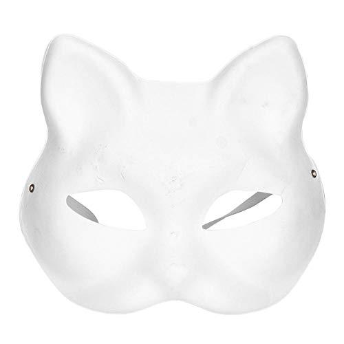Hztyyier 4 Stücke Weiße Maske Kunststoff Vollgesichtsdekoration Halloween Kostüm Party Cosplay Zubehör für Kinder Männlich Weiblich(Female)