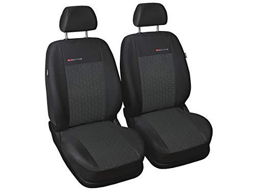 CADDY Sitzbezüge nach Maß Autoplanen perfekte Passform Schonbezüge Sitzschoner Velour + Strickpolster ®Auto-schmuck (Caddy III 1+1 p1)