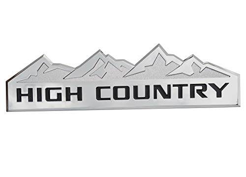 Yuauto HIGH COUNTRY Car Emblem, Replacement Badges for Door Tailgate 3D Nameplate for Chevrolet Silverado 1500 2500HD Sierra 3500HD
