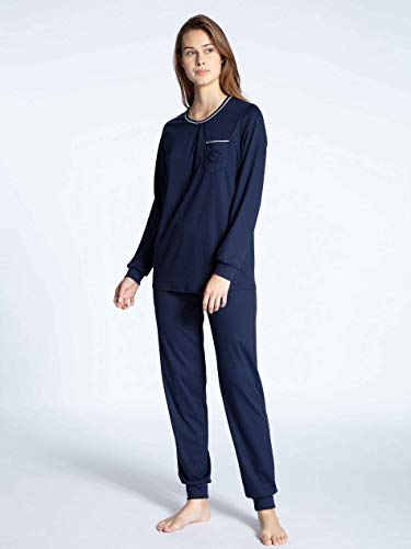 CALIDA Cosy Cotton Nights Bündchen-Pyjama Damen