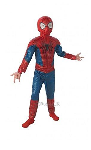 Rubies - Disfraz de Amazing Spiderman 2 musculoso en Caja Infantil (154978-S)