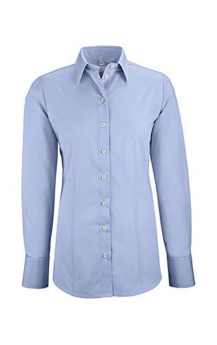 GREIFF Damen-Bluse Basic, Regular Fit, Stretch, Easy-Care, 6515, Farbe: Bleu, Größe: 40
