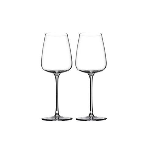 Yuansr Conjunto de Copas de Vino de 4, Copa de Vino de Estilo Europeo Duradero para Vino Blanco/Vino Tinto Espesor Resistente a Las Copas de Vino Blanco para la acondicionamiento doméstico, Boda.