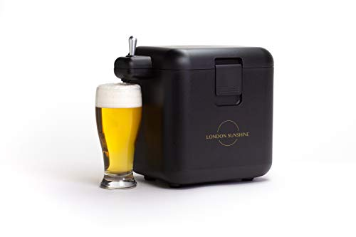 London Sunshine® Tabletop Beer Dispenser - Portable Beer Server and Cooler - Max Capacity: 6 Can BeerX500ml Can - Create Smooth Creamy Foam Draft Beer from Can Beers
