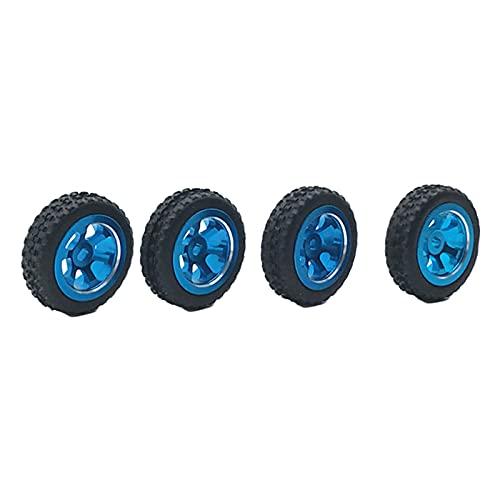 perfeclan Neumáticos de Goma 4X RC para WLtoys K969 K979 K989 P929 1/28 RC Buggy Crawler On / Off Road Repuestos para automóviles Accs - Azul