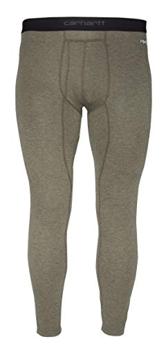 Carhartt Men's Force Heavyweight Thermal Base Layer Pant, Burnt Olive Heather, Large