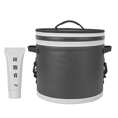 BiuZi Diepvrieszak, 1 stuks, 17 liter, draagbare camping-koeltas voor thermische food, lunch, koelbox, outdoorvissen zwart