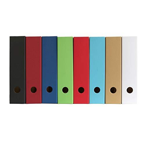 10 x PresentFill® Stehsammler Bordeaux Zeitschriftensammler Stehordner für DIN A4 Format aus umweltfreundlichen 100% Recycling Karton - Made in Germany für Schreibtisch, Archiv und Aufbewahrung