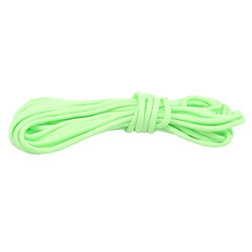 ZSDFW - Cuerda para tienda de campaña, brilla en la oscuridad, cuerda luminosa para exteriores, cordón reflectante de paracaídas, accesorios para tienda de campaña, color verde luminoso de 5 metros