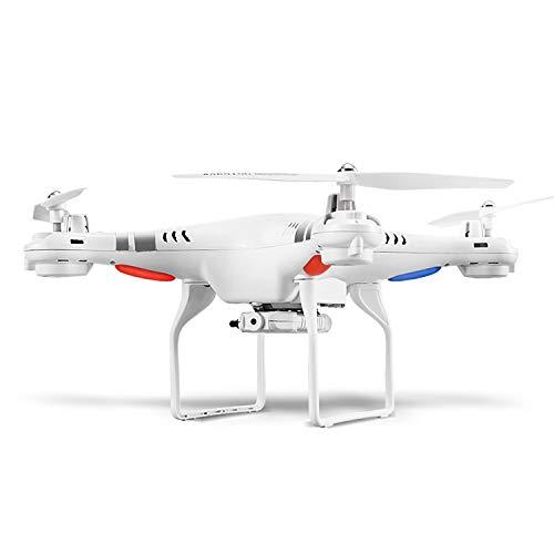 BHAHFL Aerial Large Drone Upgraded 15 Minutes Endurance SH5 Drone telecomandato per aerei a quattro assi con telecamera Live Video WIFI Camera HD Altitude Hold, modalità headless, controllo app,Bianca