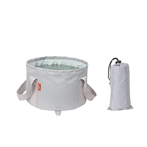 HTSHOP Pediluvio Pieghevole, pediluvio Portatile da Viaggio, Borsa da Viaggio per pediluvio per Bacino d'Acqua, Secchio d'Acqua Esterno Multifunzionale(Color:Grey)