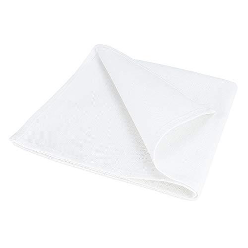 Lot de 100 serviettes de table en coton, Blanc, 40 x 40 cm