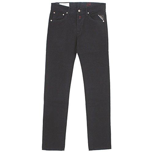 Replay, Lenrick Regular Slim, Herren Herren Jeans Hose Twill Black Used W 28 L 34 [19835]