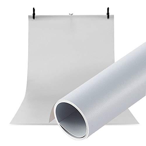 Selens PVC Hintergrund 120x200cm Wasserdicht Fotografie Hintergründe Matte Background für Fotostudio Grau