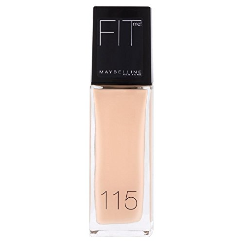 Maybelline New York Make Up, Fit Me! Foundation mit LSF18, Für makellose Haut, Alle Hauttypen, Nr. 115 Ivory, 30 ml