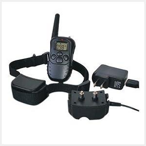 WEKSI@Collier anti/aboiement chien/Collier de dressage pour chien électrique vibration choc avec télécommande numérique à LCD écran couleur Récepteur Etanche