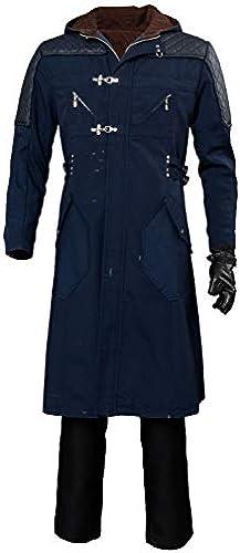 Xiemushop Devil May Cry V-schwarz Kostüm Jacket Adult Outfit Lederjacke Mantel Cosplay Kostüm