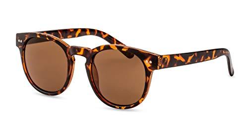 Primetta Panto Sonnenbrille/Runde Retro Sonnenbrille für Damen & Herren/In Braun-Havanna F2508920