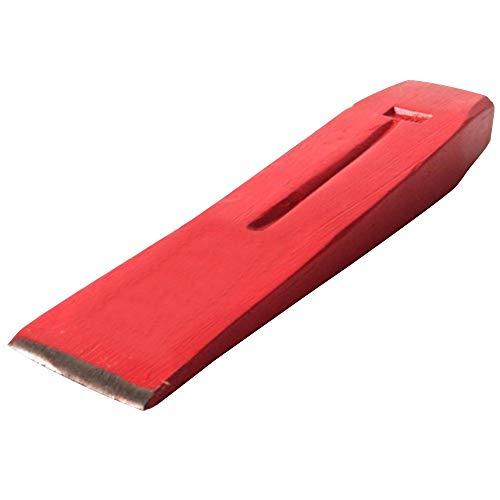 Germania Spaltkeil für Holz 1,5 kg aus Stahl rot | Nachsetzkeil zum Spalten von Brennholz