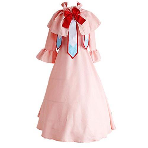 Charous Anime Fairy Tail Cosplay Kostüm Halloween Kostüm Lolita Kleid für Frauen Full Set Gr. Small, rose