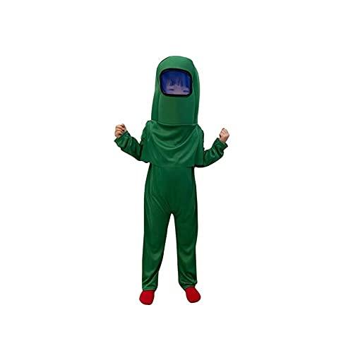 Space Astronauta Disfraz de Halloween, Juego Carácter Play Play Dress Up Outfit for Boys Girls Halloween Cosplay Cosplay Disfraces Muesca Mochila (Color : Grün, Size : 100-120CM)