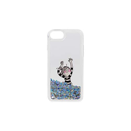 La Volátil Carcasa para iPhone 7, iPhone 8 y iPhone SE Transparente con Glitter y diseño exclusivo
