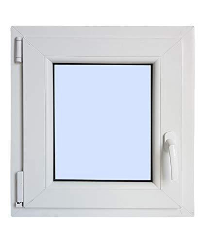 Finestra in PVC praticabile Oscilobatiente A sinistra 600X500 1 foglio con vetro Carglass