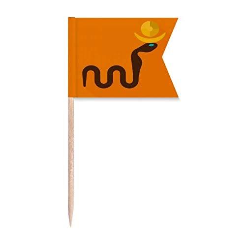 """Beauty Gift Antikes Ã""""gypten Abstraktes Kobras-Muster Markierung für die Kennzeichnung von Zahnstocher-Flaggen"""