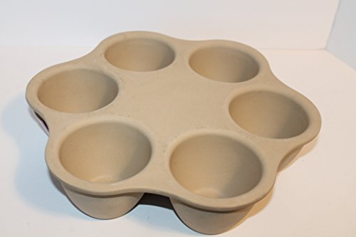 PAMPERED CHEF STONEWARE SINGLE SERVING -1 cup wells- PAN #1373 ~ SAVORY -Lasagna/Meatloaf/Stuffed bell pepper~ SWEET-Bread pudding/Muffins/Individual cakes~