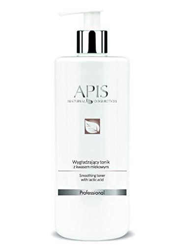APIS Glättendes Gesichtswasser mit Milchsäure, Hyaluronsäure und Meeresalgen | Reinigung, Glattheit und Feuchtigkeit | 500 ml