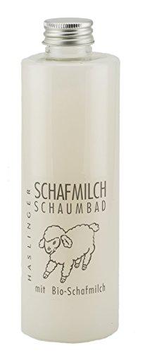 Lashuma Schafsmilch Badezubehör mit Lanolin, Schaumbad Badezusatz 400 ml, Wellness Entspannungsbad für Gepflegte Haut