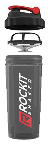 RockitShaker 1000ml Protein Shaker | garantiert auslaufsicher | BPA frei | patentiertes Mischsystem | für deinen fitness Eiweißshake und Whey Proteinshake Rot