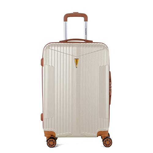 Murano – Maleta de trolley tamaño mediano, maleta para equipaje rígido ABS – Marfil – Gama IOA