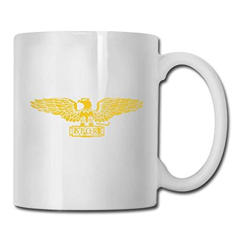 N\A Roman Legionary Eagle Taza de café Personalizada Taza de té Regalos Blancos T Regalos del día de la Madre, Regalos del día del Padre, Regalos de la Abuela y el Abuelo