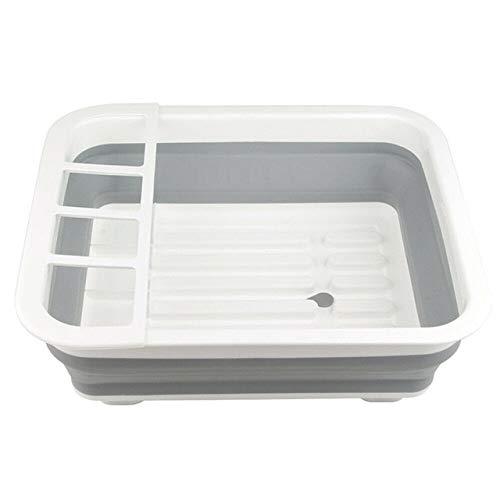 Rejilla para secar Platos,Rejilla para escurrir Platos,Caja de Almacenamiento para Cubiertos,Soporte para escurridor,portavasos para vajilla de Cocina