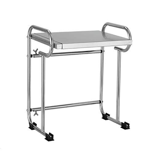 WWJHH-Kitchen shelf Estante para Horno de microondas 304 de Acero Inoxidable retráctil 40 – 65 cm Estante para Horno de Acero Inoxidable un Armario Suministros de Cocina
