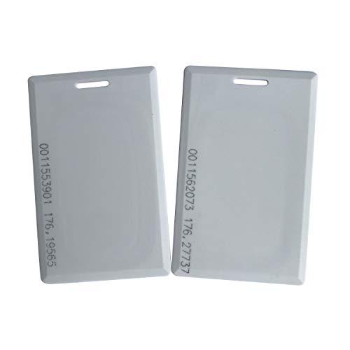 Badge RFID T5577 Rfid chiave di chiave Confezione da 100 Hotel Card YARONGTECH 125khz Writable riscrivibile Bianco in plastica