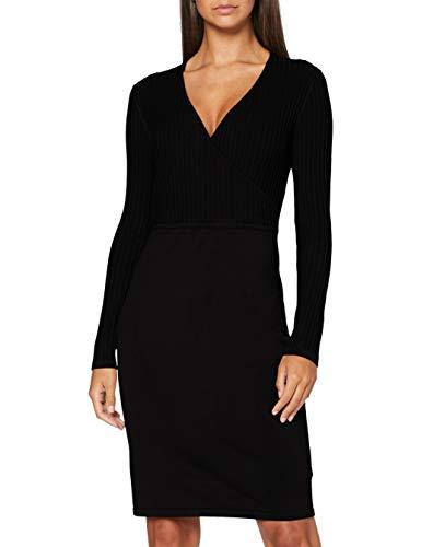 Esprit 080eo1e333 Vestido, 001 Negro, XXS para Mujer