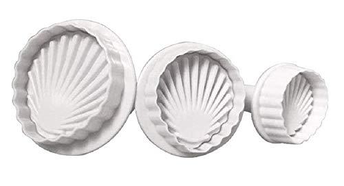 Lovelegis 3 Pezzi - Stampini per Biscotti - Forma Conchiglia - biscottini - Dolci - pasticcini - casa - Cucina - Stampo - Forma - formina - Colore Random