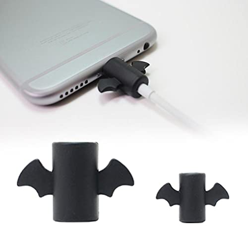 Doherty Angel Devil Cable Protector,Anti-fractura Cargador Cable Cubierta Protectora para Iphone/IPad/Android
