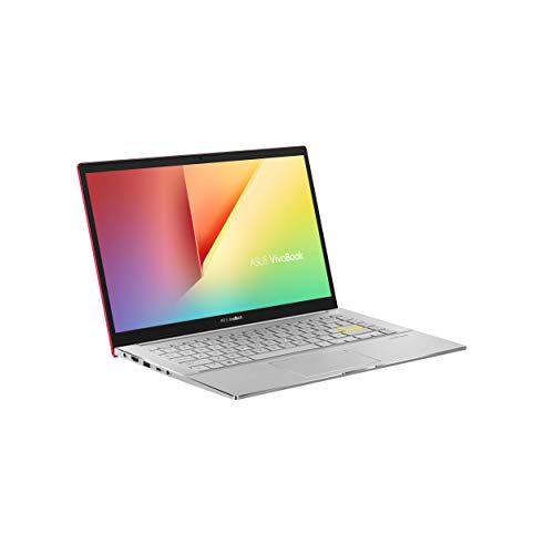 ASUS VivoBook S14 S433FA (90NB0Q01-M00300) 35,5 cm (14 Zoll, Full HD, WV, matt) Notebook (Intel Core i5-10210U, Intel UHD-Grafik 620, 8GB RAM, 512GB SSD, Windows 10) resolute red