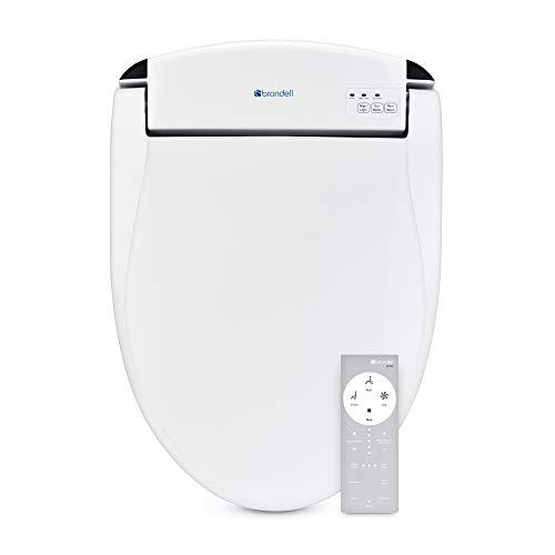 Brondell Swash DS725-RW Advanced Bidet Toilet Seat for Round Toilets, White