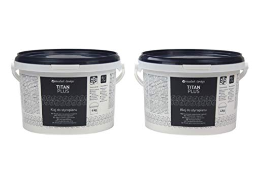 8 kg | Styroporkleber | Acrylkleber | frostfest | Deckenplatten, Leisten, Rosetten Kleber | Titan Plus