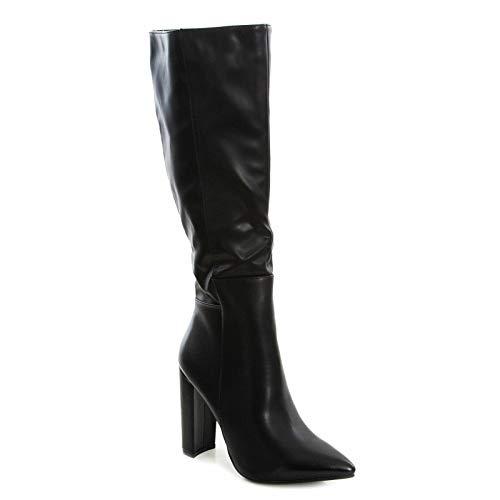 Toocool R359 - Botas de piel sintética para mujer Negro Size: 38 EU
