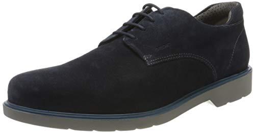 Geox U RAFFAELE B, Zapatos de Cordones Derby Hombre, Azul (Navy C4002), 41 EU